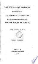 Las Poesias de Horacio, 1