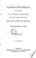Las Poesias de Horacio, 3