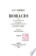 Las Poesias de Horacio, traducidas en versos castellanos, con comentarios mitológicos, históricos y filosóficos