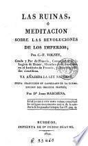 Las Ruinas, ó, Meditacion sobre las revoluciones de los imperios