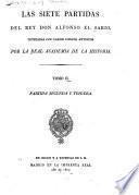 Las siete partidas del Don rey Alfonso el Sabio