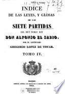 Las Siete Partidas del muy noble Rey Don Alfonso el Sabio: Índice