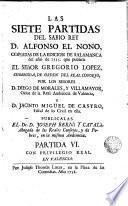 Las siete partidas del Sabio Rey D. Alfonso el Nono, 6-7