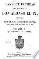 Las siete partidas del sabio rey Don Alonso el IX