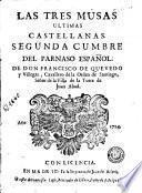 Las Tres musas eltimas castellanas del parnaso español
