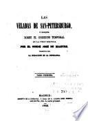 Las Veladas de San-Petersburgo, ó, Coloquios sobre el gobierno temporal de la Providencia