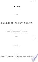 Laws of the Territory of New Mexico