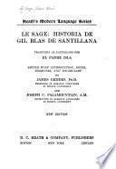 Le Sage: Historia de Gil Blas de Santillana