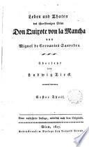 Leben und Taten des schafsinnigen [sic] Edlen Don Quixote von La Mancha,1