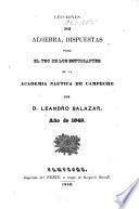 Lecciones de algebra