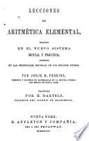 Lecciones de aritmetica elemental