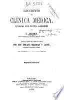Lecciones de clínica médica explicadas en el hospital Lariboisiere