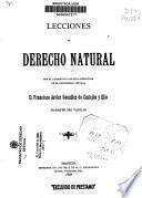Lecciones de derecho natural