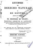 Lecciones de derecho natural y de gentes