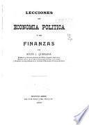 Lecciones de economia politica y de finanzas