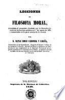Lecciones de filosofia moral