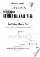 Lecciones de geometría analítica
