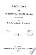 Lecciones de gramática castellana
