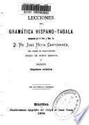 Lecciones de gramática hispano-tagala