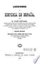 Lecciones de historia de Espana. 5. ed