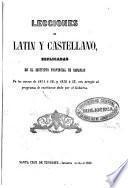 Lecciones de latín y castellano