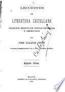 Lecciones de literatura castellana