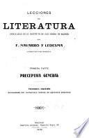 Lecciones de literatura explicadas en el Instituto de San Isidro, de Madrid