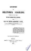Lecciones de oratoria sagrada