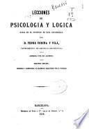 Lecciones de psicología y lógica dadas en el Instituto de esta Universidad