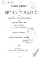 Lecciones elementales de historia de España