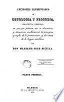 Lecciones elementales de Ortologia y Prosodia