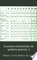 Lecciones elementales de química general, 2