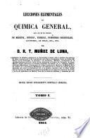 Lecciones elementales de química general
