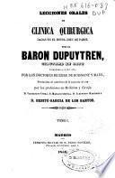 Lecciones orales de clínica quirúrgica dadas en el Hotel-Dieu de Paris