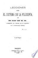 Lecciones sobre el sistema de la filosofía