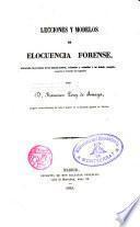 Lecciones y modelos de elocuencia forense