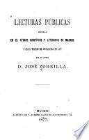 Lecturas públicas hechas en el Ateneo Científico y Literario de Madrid y en el Teatro de Jovellanos en 1877