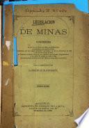 Legislacion de minas ...