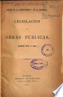 Legislación de Obras Públicas desde 1876 a 1880