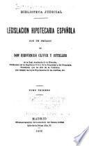 Legislación hipotecaria española
