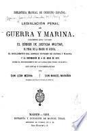 Legislación penal de guerra y marina