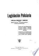 Legislación policiaria