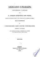 Legislación ultramarina: (830, IV p.)