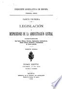 Legislación y disposiciones de la administración central