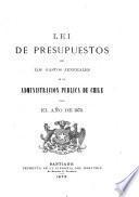 Lei de presupuestos de los gastos jenerales de la administración publica de Chile