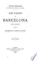 Les calles de Barcelona en 1865