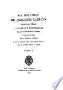 Les diez libros de Diógenes Laercio