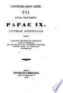 Letras apostólicas del Santísimo Padre Pio IX, Papa por la Divina Providencia ordenando un concilio ecuménico