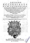 Lexicon ecclesiasticum latino hispanicum