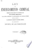 Ley de enjuiciamiento criminal promulgada por Real Decreto de 14 de setiembre de 1882